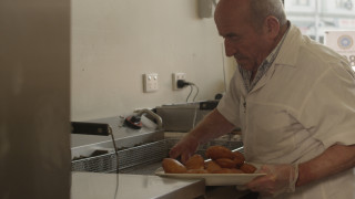 Still image from the film: OLYMPIC NICK: A DONUTUMENTARY